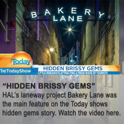 The Today Show features HAL project Bakery Lane.